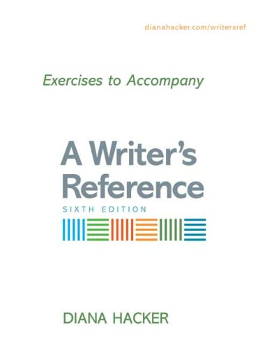 9780312452353: Exercises to Accompany A Writer's Reference