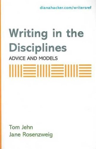 9780312452643: Writing in the Disciplines: Advice and Models: A Supplement to Accompany A Writer's Reference