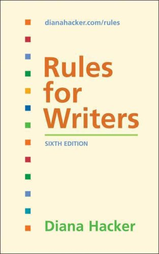 9780312452766: Rules for Writers