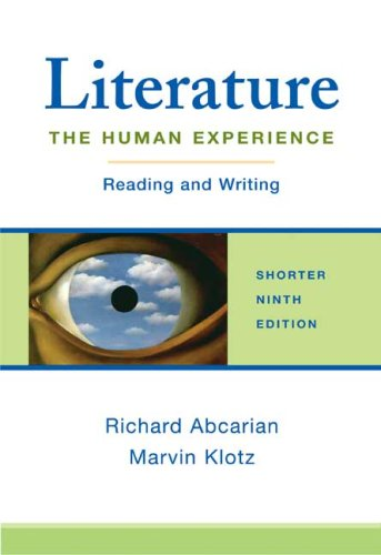 9780312452810: Literature: The Human Experience Shorter Edition: Reading and Writing