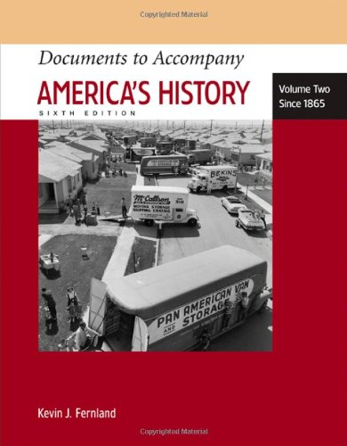 9780312454418: Documents to Accompany America's History, Vol. 2: Since 1865, 6th Edition