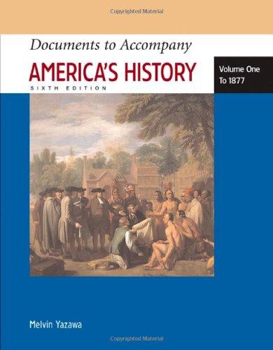 9780312454425: Documents to Accompany America's History, Volume I: To 1877