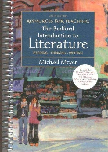 9780312458379: Resources for Teaching , The Bedford Introduction to Literature