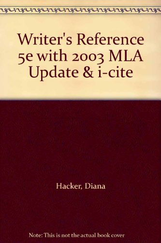 9780312458522: Writer's Reference 5e with 2003 MLA Update & i-cite