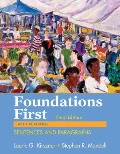 9780312459895: Foundations First with Readings: Sentences and Paragraphs