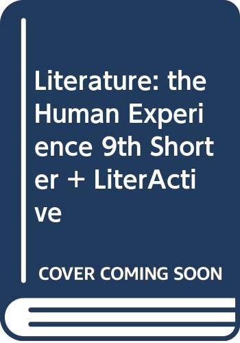Literature: The Human Experience 9e Shorter & LiterActive (0312459920) by Abcarian, Richard; Klotz, Marvin