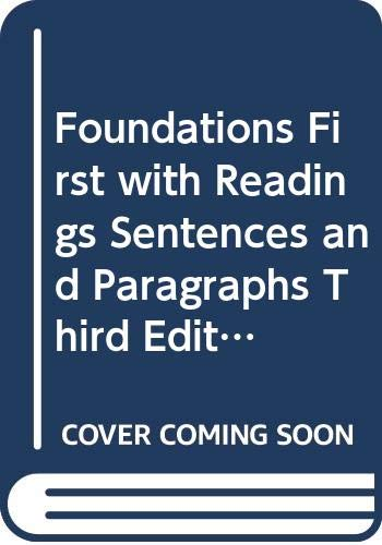 9780312459963: Foundations First with Readings, Sentences and Paragraphs, Third Edition (Instructor's Annotated Edition)