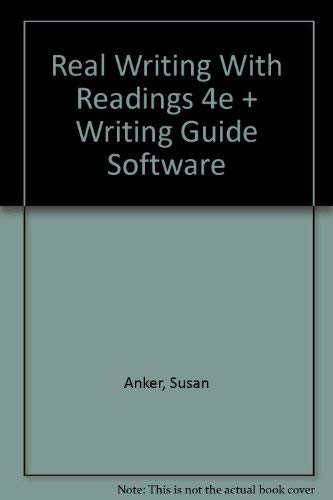 real essays with readings by susan anker fourth edition College in success for writing readings: with essays real anker susan by paperback $74 00 74 $ 00 soon order - stock in left 1 only work, life, everyday and 28, dec edition 4th results, selected showing anker susan writing real for results 215 of 1-16 2011  is course writing the that believes.