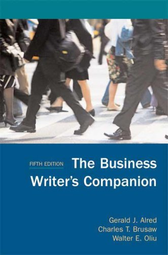 9780312461898: The Business Writer's Companion