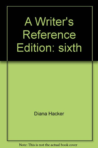 A Writer's Reference: Diana Hacker