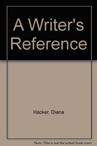 9780312465308: A Writer's Reference