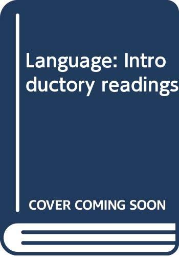9780312467968: Language: Introductory readings