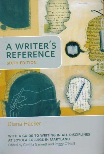 9780312469382: A Writer's Reference 6th Edition (With a Guide to Writing in All Disciplines At Loyola College in Maryland)
