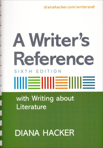 9780312470982: A Writer's Reference with Writing about Literature