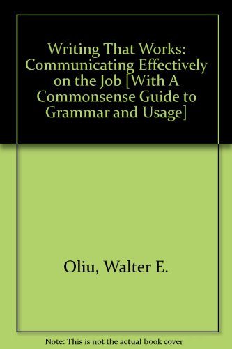 9780312472627: Writing that Works 9e & Commonsense Guide to Grammar and Usage 4e
