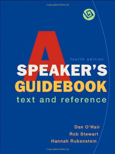 9780312472825: A Speaker's Guidebook: Text and Reference