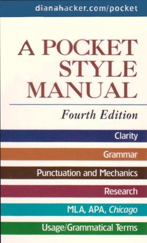 9780312475314: Pocket Style Manual 4e & APA Quick Reference Card & MLA Quick Reference Card