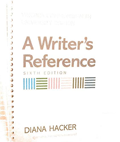 9780312475680: A Writer's Reference Sixth Edition (Virginia Commonwealth University Edition)