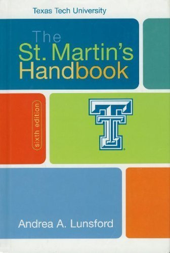 The St. Martin's Handbook Texas Tech University: Lunsford