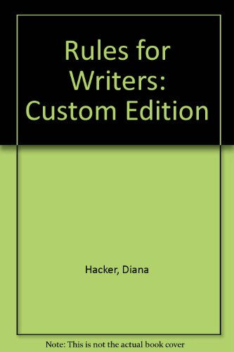 Rules for Writers: Custom Edition