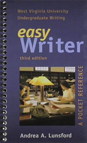 easy writer (a pocket reference): Andrea A. Lunsford