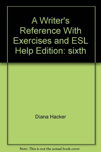 9780312480226: A Writer's Reference (Sixth Edition) With Exercises and ESL Help