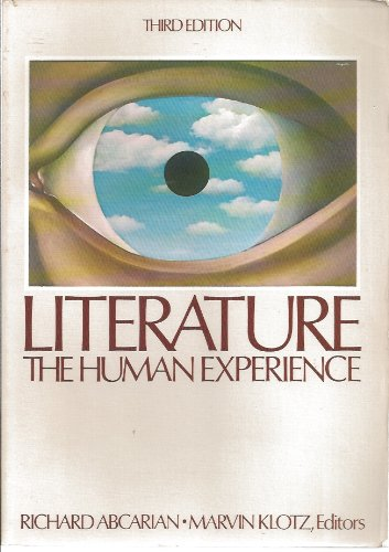 Literature, the human experience: Abcarian Richard And