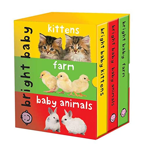 Bright Baby Slipcase (large): Kittens, Farms, Baby Animals: Priddy, Roger