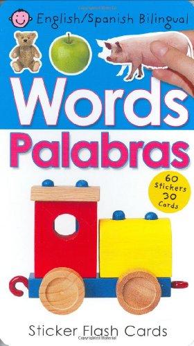 9780312497927: Bilingual Sticker Flash Cards Words (Spanish Edition)