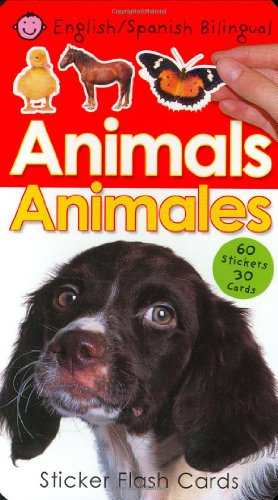 9780312497934: Animals/Animales Sticker Flash Cards [With 60 Stickers]