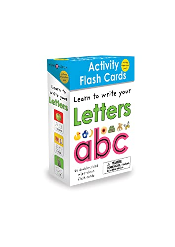 Wipe Clean Flash Cards ABC [With Stickers and 3 Colored Pens]: Priddy, Roger