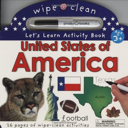 9780312500825: Wipe Clean United States Activity Atlas (Wipe Clean Let's Get Ready for School)