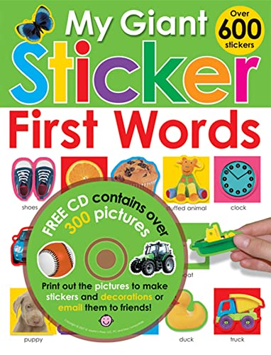 My Giant Sticker First Words (with CD)