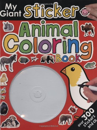 9780312500979: My Giant Sticker Animal Coloring Book+CD (Giant Sticker Activity)