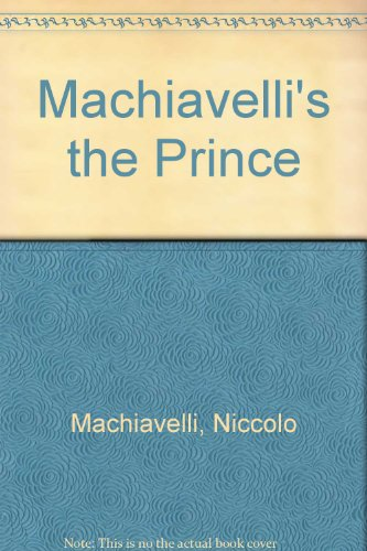 9780312501907: Machiavelli's the Prince