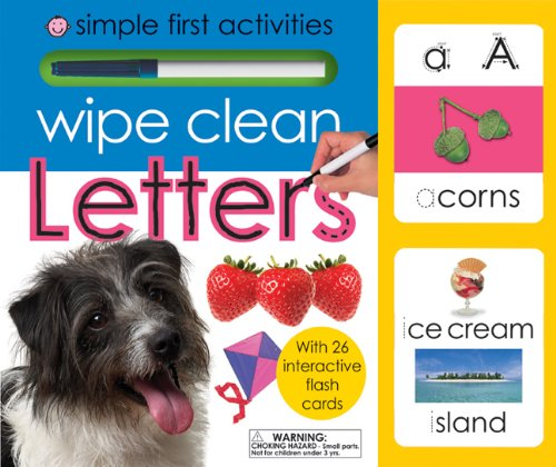 9780312507213: Wipe Clean Letters: Simple First Activities [With Wipe Clean Pen and Flash Cards]