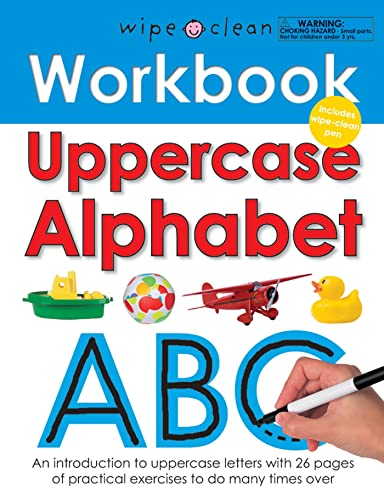 Wipe Clean Workbook Uppercase Alphabet: Priddy, Roger