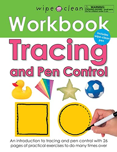 Tracing and Pen Control [With Wipe Clean Pen] (Wipe Clean Workbooks): Priddy, Roger