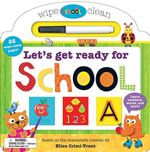 9780312516093: Schoolies: Wipe Clean Let's Get Ready for School: Learn Numbers, Words and More