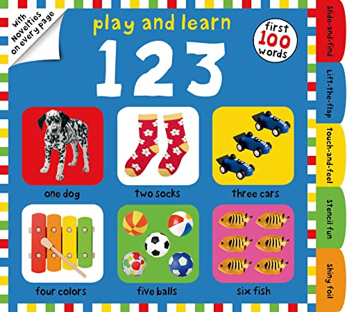 9780312516390: Play and Learn 123: First 100 Words, with Novelties on Every Page