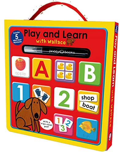 9780312517281: Play and Learn with Wallace: Workbook Box Set: Includes 5 Wipe-Clean Books