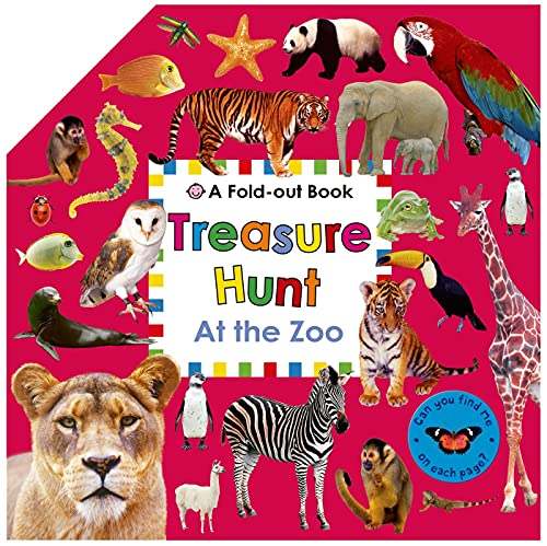 9780312517984: Treasure Hunt: At the Zoo: A Fold-Out Book