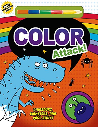 9780312518455: Color Attack!: Dinosaurs, Monsters and Cool Stuff!