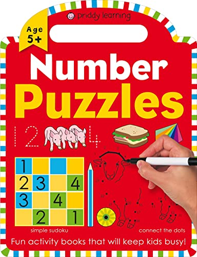 9780312522124: Priddy Learning: Number Puzzles (Wipe Clean Learning Books)