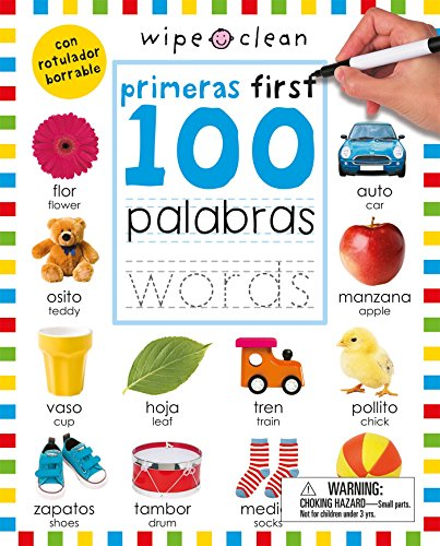 Wipe Clean: First 100 Words Bilingual (Spanish/English) (Wipe Clean Activity Books) (Spanish ...