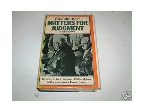 9780312523053: Matters for Judgement: An Autobiography