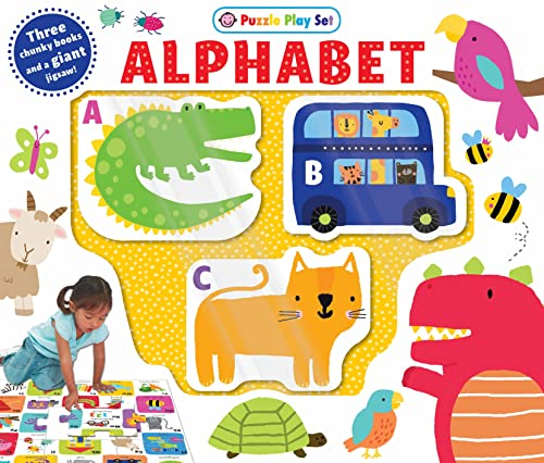 Alphabet Puzzle Play Set: Three Chunky Books: Priddy, Roger