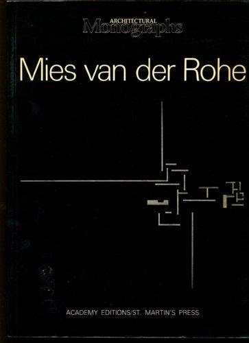 Mies Van Der Rohe: European Works (Architectural Monograhs 11): Honey, Sandra; Gowan, James; Gale, ...