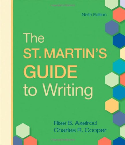 9780312536121: The St. Martin's Guide to Writing