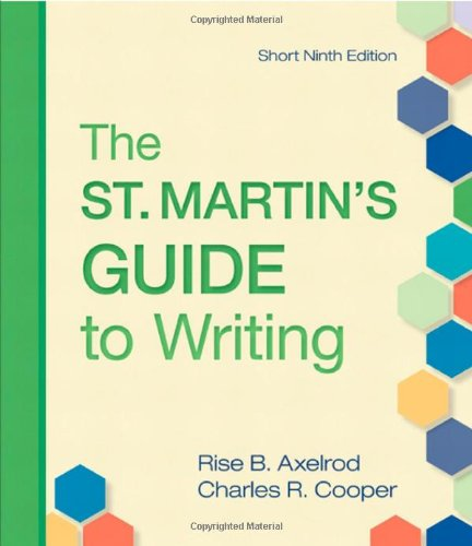 9780312536138: The St. Martin's Guide to Writing, Ninth Edition